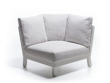 Corner fabric garden armchair WIN 105