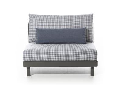 Fabric garden armchair WIN 106