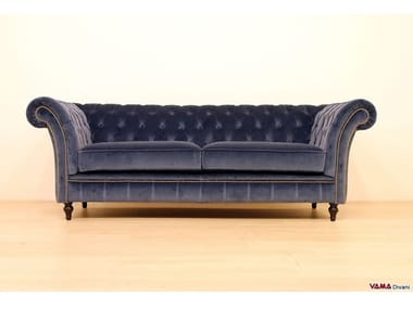 Tufted 2 seater fabric sofa WINCHESTER | Velvet sofa