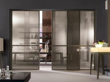 Fabric glass sliding door WIND | Sliding door