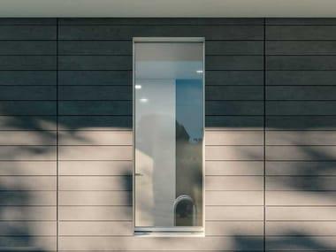 Finestra a battente a taglio termico in alluminio e legno INVISIBLE | Finestra