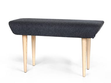 Upholstered fabric bench WING | Ash bench
