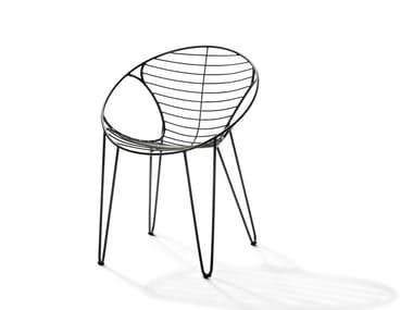 Sedia impilabile in acciaio inox WIRE | Sedia