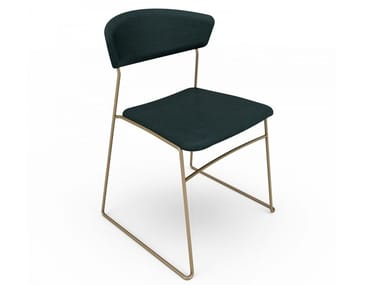 Lacquered steel chair WOLFGANG | Metal chair