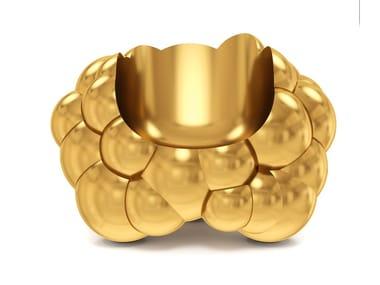 Brass armchair WOLK