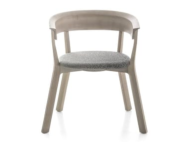 Ash chair with armrests WOOD BIKINI | Chair