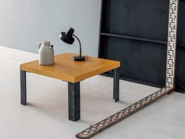 Square solid wood side table WOOD | Square coffee table