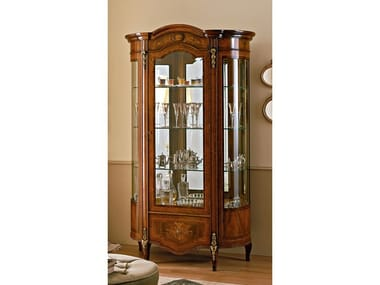 Wood veneer display cabinet REGGENZA | Wood veneer display cabinet