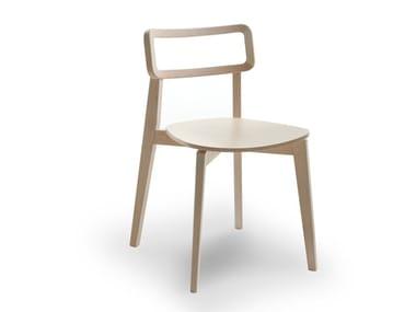 Stackable wooden chair ARIANNA | Wooden chair