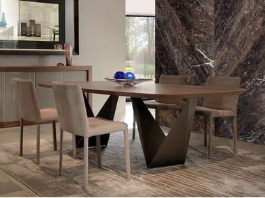 Tavolo da pranzo rettangolare in legno PRISMA | Tavolo in legno