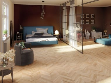 Porcelain stoneware wall/floor tiles with wood effect WOODIE BEIGE