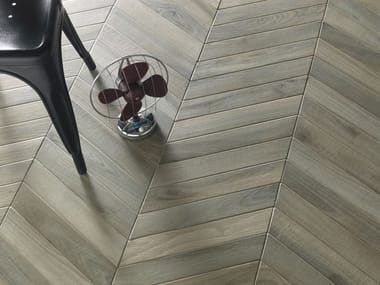 Porcelain stoneware wall/floor tiles with wood effect WOODIE GREEN