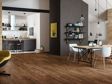 Porcelain stoneware flooring with wood effect WOODTALE
