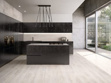Porcelain stoneware wall/floor tiles with wood effect WOODTOUCH SBIANCATO