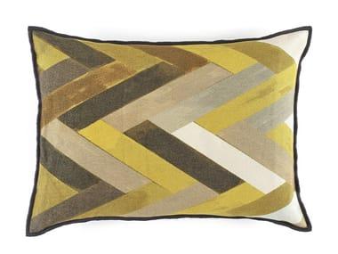 Motif rectangular chenille cushion WOODY