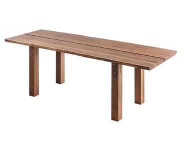 Rectangular wooden table WOODY