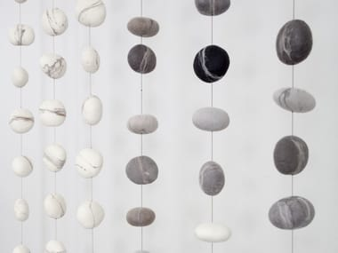 Wool felt hanging decoration PEBBLE | Wool felt hanging decoration