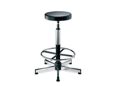 Height-adjustable Eco-leather office stool WORK | Height-adjustable office stool