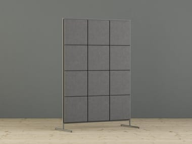 Sound absorbing free standing workstation screen SABINE | Workstation screen