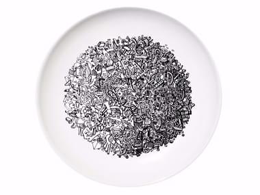 Ceramic dinner plate WORLD