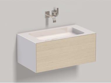 Mobile lavabo sospeso in laminato WP.Folio2 brushed oak