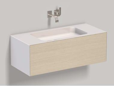 Mobile lavabo sospeso in laminato WP.Folio4 brushed oak