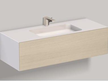Mobile lavabo sospeso in laminato WP.Folio5 brushed oak