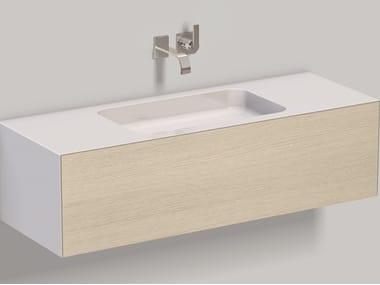 Mobile lavabo sospeso in laminato WP.Folio6 brushed oak
