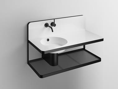 Mobile lavabo sospeso in acciaio verniciato a polvere WP.S19L.1 | Mobile lavabo