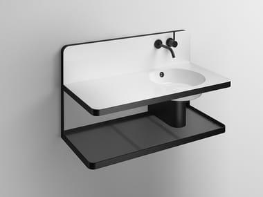 Mobile lavabo sospeso in acciaio verniciato a polvere WP.S19L.2 | Mobile lavabo