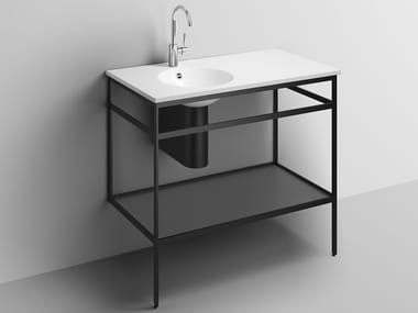 Consolle lavabo in acciaio verniciato a polvere WP.WF20.1 | Consolle lavabo