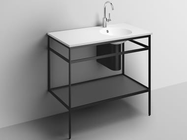 Consolle lavabo in acciaio verniciato a polvere WP.WF20.2   Consolle lavabo