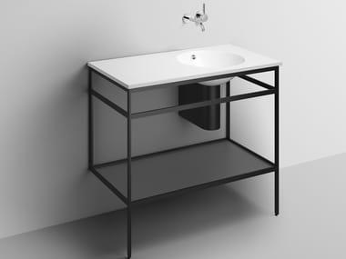 Consolle lavabo in acciaio verniciato a polvere WP.WF20.4   Consolle lavabo