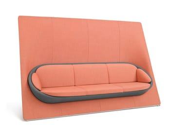 Sofá 3 lugares de tecido com encosto alto WYSPA 32