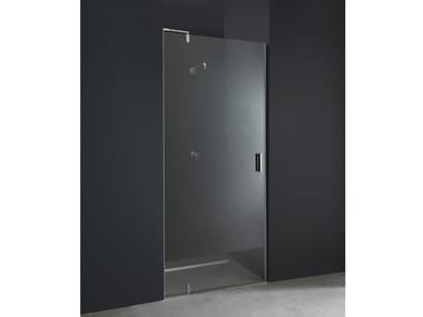 Niche custom glass and steel shower cabin with pivot door X9 | Niche shower cabin