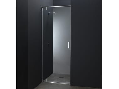 Niche custom glass and steel shower cabin with pivot door X10 | Niche shower cabin