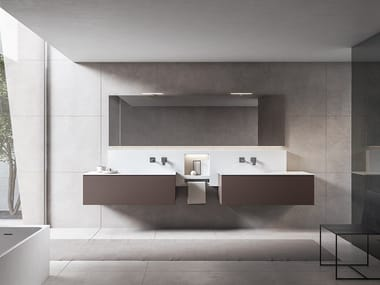 Double vanity unit with mirror XFLY 01
