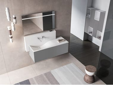 Wall-mounted vanity unit with cabinets XFLY 02