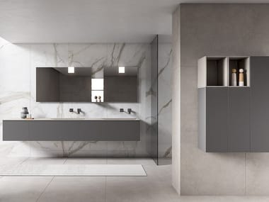 Wall-mounted vanity unit with cabinets XFLY 03