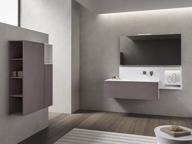 Wall-mounted vanity unit with mirror XFLY 05