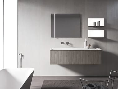 Wall-mounted vanity unit with mirror XFLY 08