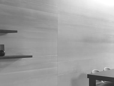 Ultra thin laminated stoneware wall tiles with concrete effect XLIGHT CONCRETE GREY