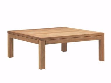 Tavolino basso da giardino in teak XQI | Tavolino basso