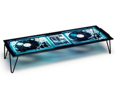 Rectangular crystal and steel coffee table XRAYDIO | Coffee table