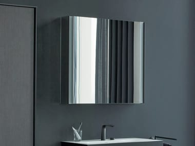 Wall-mounted mirror with cabinet XVIU | Mirror with cabinet