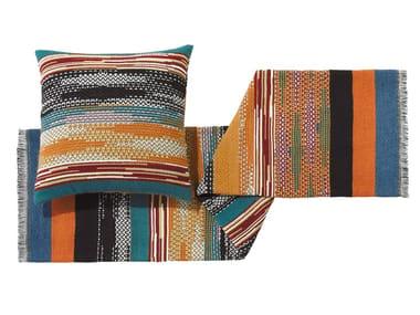 Plaid jacquard multicolor in lana YAILIN