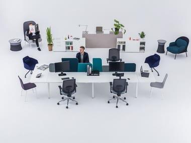 Multiple office workstation YAN_M   Multiple office workstation