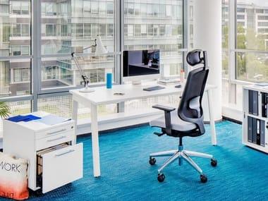 Rectangular melamine-faced chipboard workstation desk YAN_M   Office desk