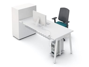 Rectangular office desk with shelves YAN_M   Office desk with shelves