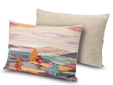 Cuscino ricamato in tessuto con paesaggi YANKTON